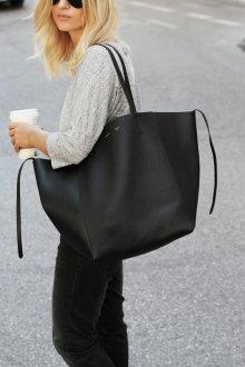 Кожаная сумка женская тоут