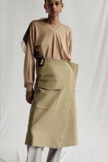 Бежевая юбка асимметричная