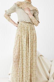 Бежевая юбка с цветами