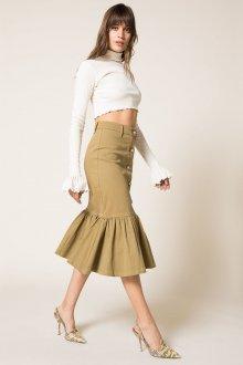 Бежевая юбка из денима