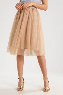Бежевая юбка из фатина
