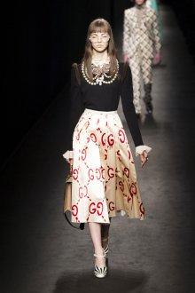 Бежевая юбка с принтом
