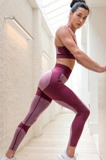Спортивные легинсы фиолетовые