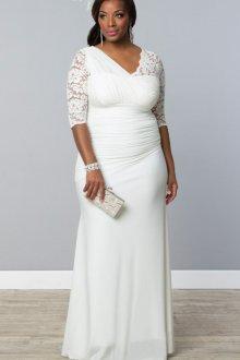 Свадебное платье для полных асимметричное