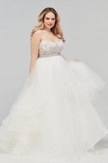 Свадебное платье для полных без бретелей