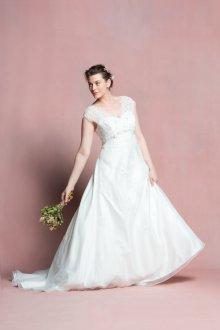 Свадебное платье для полных без рукавов