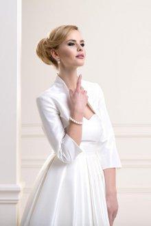 Свадебное платье для полных с болеро