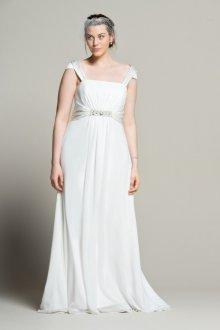 Свадебное платье для полных на бретелях