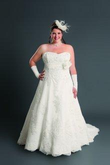 Свадебное платье для полных классическое