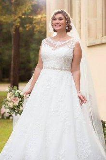 Свадебное платье для полных колокол
