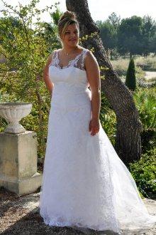 Свадебное платье для полных летнее