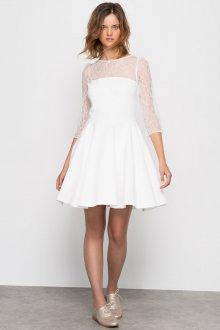 Свадебное платье для полных мини