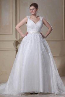 Свадебное платье для полных многослойное