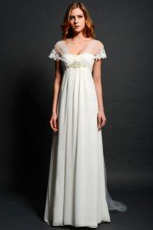 Свадебное платье для полных в пол