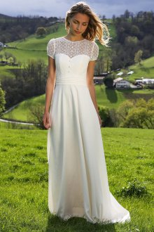 Свадебное платье для полных девушек простое