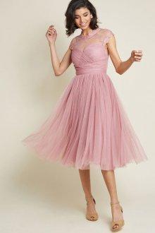 Свадебное платье для полных пудровое