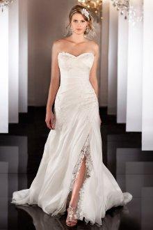 Свадебное платье для полных с разрезом