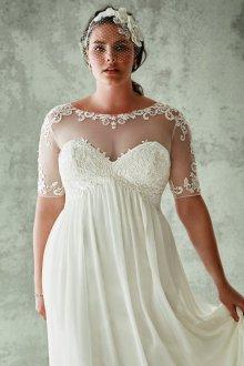 Свадебное платье для полных в стиле ретро
