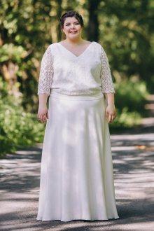 Свадебное платье для полных с рукавом