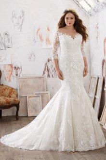 Свадебное платье русалка для полных