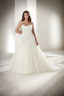 Свадебное платье для полных из тюля