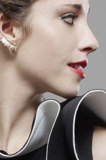 Серьги каффы золотые на ухо