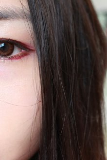 Бордовый макияж для азиатского типа внешности