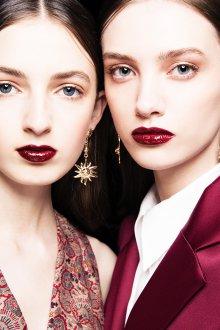 Бордовый макияж модный