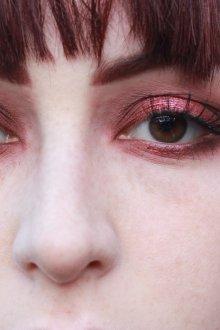 Бордовый макияж перламутровый