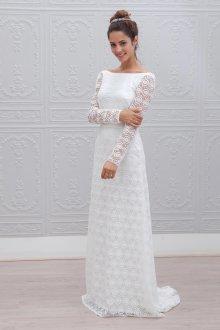 Кружевное свадебное платье ажурное
