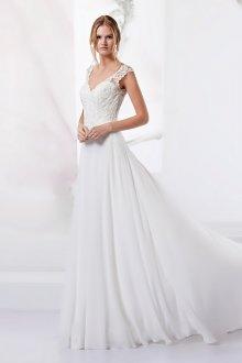 Кружевное свадебное платье без рукавов