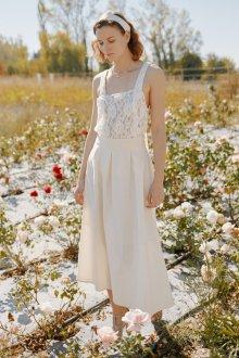 Кружевное свадебное платье этническое
