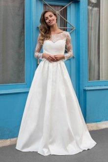 Кружевное свадебное платье гипюровое