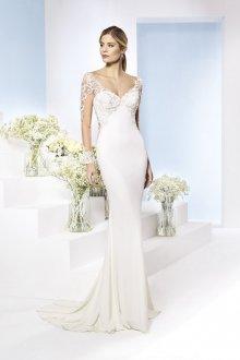 Кружевное свадебное платье красивое