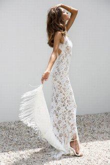 Кружевное свадебное платье летнее
