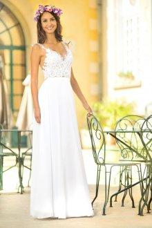 Кружевное свадебное платье на лето