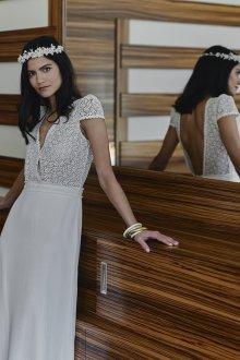 Кружевное свадебное платье нежное