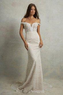 Кружевное свадебное платье облегающее