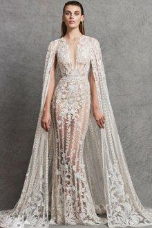 Кружевное свадебное платье прозрачное