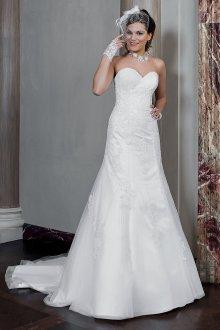 Кружевное свадебное платье в стиле ретро