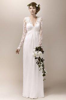 Свадебное платье с кружевным рисунком