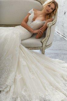 Кружевное свадебное платье тренды