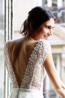 Кружевное свадебное платье винтажное