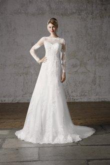 Кружевное свадебное платье закрытое