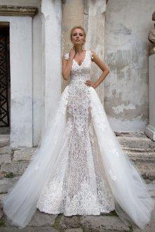 Свадебное платье со шлейфом отстегивающимся