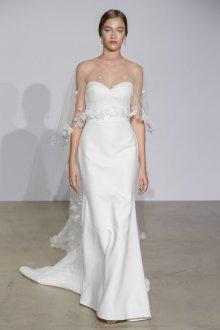 Свадебное платье бюстье фасона русалка со шлейфом