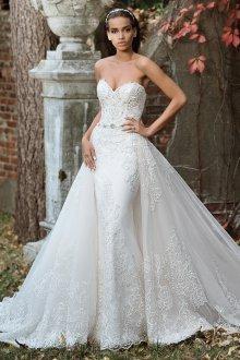 Свадебное платье со шлейфом съемным