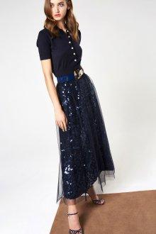 Вечерняя юбка блестящая