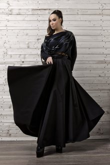 Вечерняя юбка черная длинная