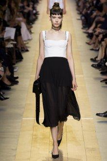 Вечерняя юбка черная шифоновая